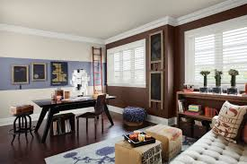 exquisite two tone wall colours decoration with brown wall colours