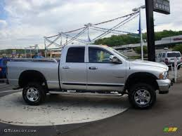 2005 bright silver metallic dodge ram 2500 power wagon quad cab