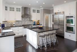 White Kitchen Cabinets With Black Granite Countertops 37 Gorgeous Kitchen Islands With Breakfast Bars Pictures