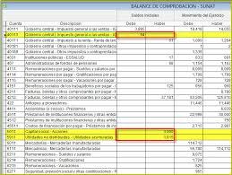 balance de comprobacion sunat menú reporte sunat renta anual balance de comprobación pdf