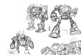 steampunk robots sketches by picksel on deviantart