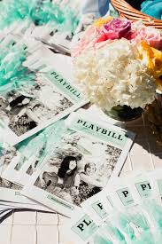 Playbill Wedding Programs Luna Gardens Events Los Angeles Wedding Flowers Southern