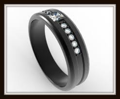 Mens Wedding Rings Black by Black Gold Wedding Band For Men Vidar Jewelry Unique Custom