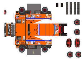 truck paper model papercraft 621 daf 1985 maquette dakar