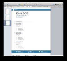 Chronological Resume Template Free Mac Resume Templates