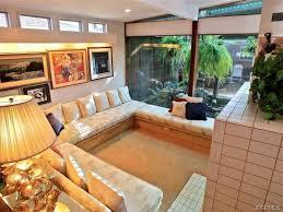 living room mid century modern sunken living room wallpaper