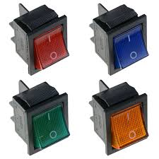 lighted rocker switch 12v illuminated large on off rocker switch 12v dpst red blue green