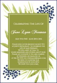 invitation to brunch wording 39 best funeral reception invitations lives on