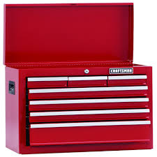 professional tool chests and cabinets craftsman home series 26 wide 7 drawer top chest red