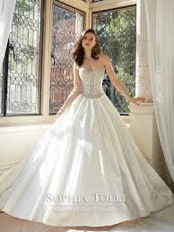 royal satin a line princess wedding dress 2016 sweetheart sheer