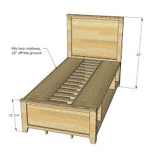 twin bed frame with storage u2013 tappy co