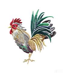 swnrr112 rooster embroidery design