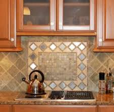 pictures of backsplashes in kitchen interior subway tiles with mosaic accents backsplash with tumbled