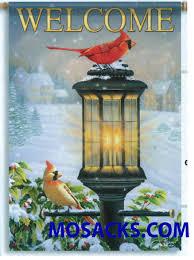 Cardinal Flag Christmas Flags