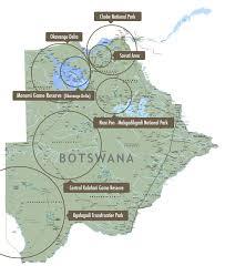 Botswana Map Delta Cruiser Safari The Real Voyage Of Discovery