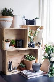 Desk Organizer Shelves 39 Wood Crate Storage Ideas That Will You Organized In No Time