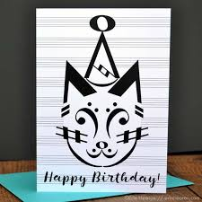 cat note birthday card gifts and cards erin