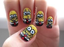 spongebob nail designs choice image nail art designs