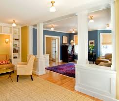 we built some half walls below to divide the large parlor into