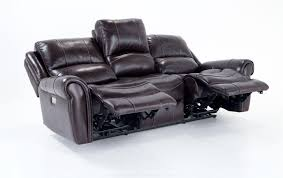 Leather Reclining Sofa Loveseat Leather Power Reclining Sofa And Power Reclining Console