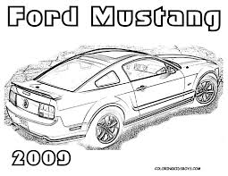 car 23 ford mustang 2009 coloring pages book for kids boys gif 1