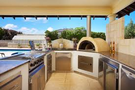 beautiful outdoor kitchen pizza oven taste