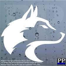 Primal Sign Wolf Head Car Van Door Window Sticker Sign Pack Alpha Beta Omega