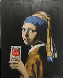 earring girl the girl with the pearl earring taking a selfie by almostastrid on