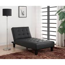 julia futon chaise lounger black walmart com
