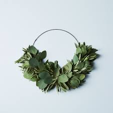 eucalyptus wreath olive eucalyptus half wreath on food52