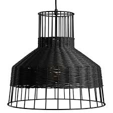 Black Hanging Light Fixture Laika Pendant Light Rattan Pendant Light Dot
