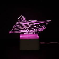 color changing 3d visual yacht remote led light