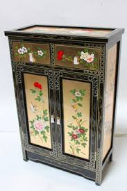 Oriental Credenza Oriental Cabinet Bombay Chest Credenza Black Lacquer Mother Of