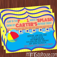 pool party printable collection mimi u0027s dollhouse