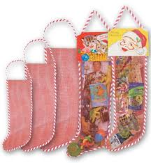 bulk christmas empty mesh christmas can be filled and sold easily