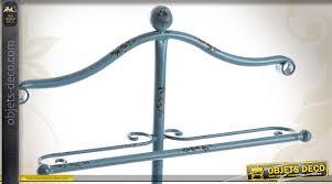 valet de chambre en fer forgé valet de chambre en métal bleu vieilli inspiration fer forgé