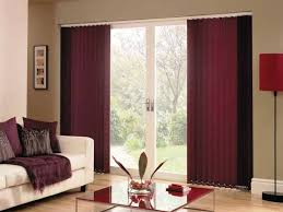 interior window vertical blinds in maroon color option with lowes