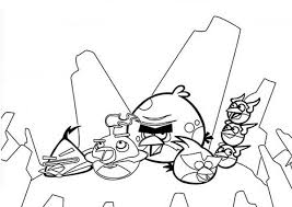 angry bird space characters coloring pages angry bird space