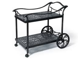 Tuscany Outdoor Furniture by Tuscany Cast Aluminum Tea Cart Cast Aluminum Outdoor Accessories