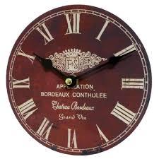 Pendules De Cuisine Originales by Horloge Murale Pendule Ronde En Bois Et Papier Appelation Bordeaux