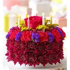 birthday flower cake 1 800 flowers birthday flower cake purple 1 800 flowers 4 gift