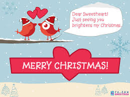 my christmas sweetheart just seeing you brightens my christmas ecard