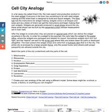 cell city analogy worksheet free worksheets library download and