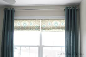 Roman Shades Over Wood Blinds Remodelaholic How To Create A Faux Roman Shade