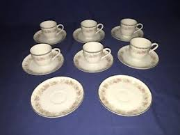 teahouse dansico collection china dansico china tea house demitasse cups saucers 6