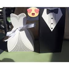 wedding favors 1 1 bridal gift cases groom tuxedo dress gown ribbon wedding favors