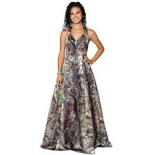 realtree camo gown with a sweetheart halter camouflage prom