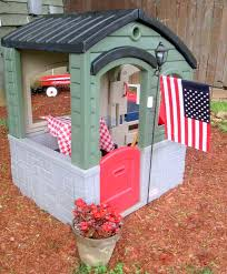 furniture exciting backyard design with little tikes playhouse