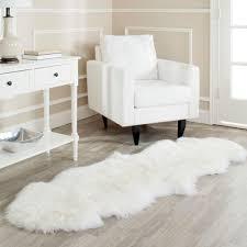 White Sheepskin Rugs White Runner Rugs Roselawnlutheran
