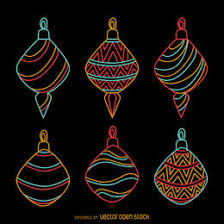 b w ornaments set vector